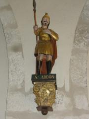 Eglise Notre-Dame - English:   Vergheas (Puy-de-Dôme) église statue saint Abdon
