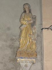 Eglise Notre-Dame - English:   Vergheas (Puy-de-Dôme) église statue saint Jean évangelist