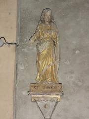 Eglise Notre-Dame - English:   Vergheas (Puy-de-Dôme) église statue saint Joseph