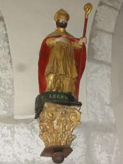Eglise Notre-Dame - English:   Vergheas (Puy-de-Dôme) église statue saint Léger