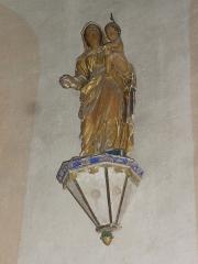 Eglise Notre-Dame - English:   Vergheas (Puy-de-Dôme) église statue vierge et enfant, doré