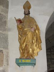 Eglise Saint-Maurice - English: Saint-Maurice-près-Pionsat (Puy-de-Dôme) église statue saint Blaise