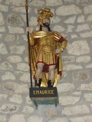 Eglise Saint-Maurice - English: Saint-Maurice-près-Pionsat (Puy-de-Dôme) église statue saint Maurice 2
