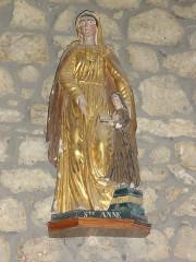Eglise Saint-Maurice - English: Saint-Maurice-près-Pionsat (Puy-de-Dôme) église statue sainte Anne