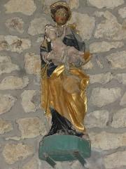 Eglise Saint-Maurice - English: Saint-Maurice-près-Pionsat (Puy-de-Dôme) église statue vierge à l'enfant