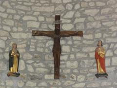 Eglise Saint-Maurice - English: Saint-Maurice-près-Pionsat (Puy-de-Dôme) église statues calvaire