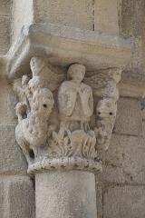 Eglise Saint-Laurent - Deutsch: Katholische Kirche Saint-Laurent in Auzon im Département Haute-Loire (Auvergne-Rhône-Alpes/Frankreich), Kapitell