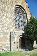 Eglise Saint-Saturnin - Deutsch: Chanteuges, Kirche, Fassade, Hauptportal