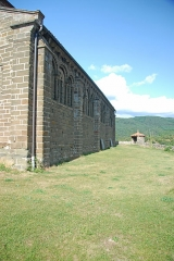 Eglise Saint-Saturnin - Deutsch: Chanteuges, Kirche, Südseite v. SW