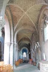 Eglise Saint-Saturnin - Deutsch: Chanteuges, Kirche, südl. Seitenschiff, Kreuzgratgewölbe, Gurtbogen