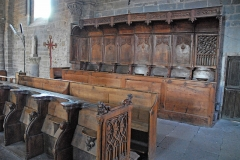 Eglise Saint-Saturnin - Deutsch: Chanteuges, Kirche, Chorgestühl im nördl. Seitenschiff