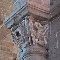 Eglise Saint-Saturnin - Deutsch: Prioratskirche Chanteuges, Kapitell,