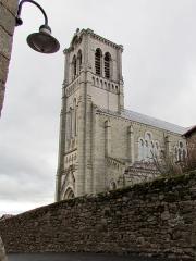 Eglise Saint-Clément - Français:   Vue sur le clocher de l\'église de Pradelles # Haute-Loire (43) .