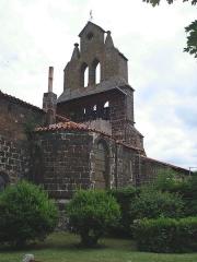 Eglise Saint-Vincent - English: Solignac-sur-Loire (Haute-Loire, Fr), bell gable of the church.