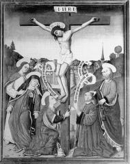 Eglise Sainte-Croix - Deutsch: Gemälde auf Holz in der Kirche Sainte-Croix in Gannat