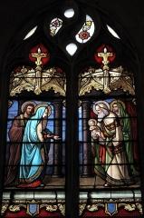 Eglise Saint-Pierre - Deutsch: Katholische Kirche Saint-Pierre in Moulins im Département Allier (Auvergne-Rhône-Alpes/Frankreich), Bleiglasfenster aus dem 19. Jahrhundert; Darstellung: Präsentation Jesu im Tempel