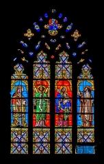 Abbatiale Saint-Géraud - English: Stained-glass windows of the Saint Gerald abbey church of Aurillac, Cantal, France