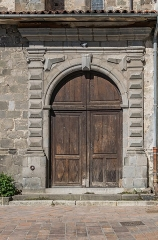 Eglise Notre-Dame-aux-Neiges - English: Side door of the Our Lady of the Snow church of Aurillac, Cantal, France