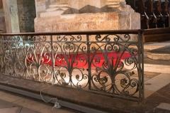 Ancienne cathédrale et cloître -   Liturgical railings.