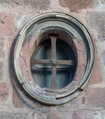 Ancien collège des Jésuites ou ancien lycée Foch - English: Round window of the chapel of the Jesuit's College in Rodez, Aveyron, France