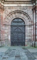 Ancien collège des Jésuites ou ancien lycée Foch - English: Portal of the chapel of the Jesuit's College in Rodez, Aveyron, France