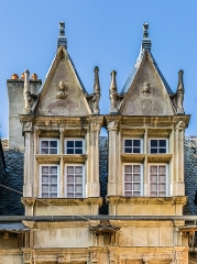 Maison d'Armagnac - English: Dormer windows of Maison d'Armagnac in Rodez, Aveyron, France
