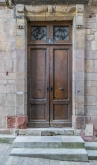 Maison - English: Portal of the building at 1 rue de la Barrière in Rodez, Aveyron, France