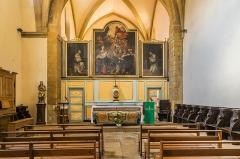 Ancien couvent des Pénitents - English: Interior of the Penitents Church in Saint-Geniez-d'Olt, Aveyron, France