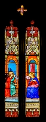 Eglise - English: Stained glass window of the Saint Géraud church of Salles-Curan, Aveyron, France.