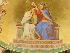 Eglise Notre-Dame-de-l'Assomption -  Painted decor of the choir and apse: Virgin Coronation