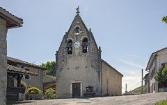 Chapelle Saint-Paul de Pujos - English:  Bell gables of the church of Pujos, Estadens, Haute-Garonne France.