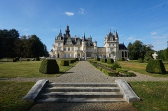 Thermes gallo-romains - English: The Château de Valmirande is located in Montréjeau, Haute-Garonne. It was built from 1893 - 1905 for Baron Bertrand de Lassus by architect Louis Garros. It is built in an extravagant Neo-Renaissance style, with a large arboretum of more than 180 species of trees and classical French gardens on both sides of the castle. The gardens are the work of brothers  Denis et Eugène Bühler. The parks and gardens were classified 'Jardin Remarkable' (Remarkable Gardens) by the Ministry of Culture in 2017. The estate has been classified as a historic monument since 1992. Photo taken on September 22nd, 2019.