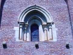 Eglise Saint-Christophe des Templiers - Français:   Fenêtre de la chapelle templière de Montsaunès. Auteur Vincent MERKENBREACK, 2007