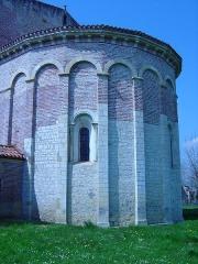 Eglise Saint-Christophe des Templiers - Français:   Chevet de la chapelle templière de Montsaunès. Auteur Vincent MERKENBREACK, 2007.