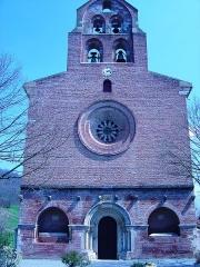 Eglise Saint-Christophe des Templiers - Français:   Façade principale de la chapelle templière de Montsaunés dans les Pyrénées. Auteur Vincent MERKENBREACK, 2007.