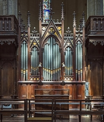 Cathédrale Saint-Etienne - English:  Toulouse Cathedral- The choir organ by Aristide Cavaillé-Coll (organ builder) in 1868.