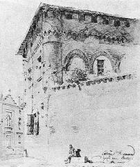 Ancien collège Saint-Raymond - Français:   Le collège Saint-Raymond de Toulouse, vu par Mazzoli (1865).