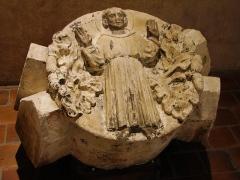 Ruines de l'église des Cordeliers -  Musée des Augustins, ville de Toulouse, région Midi-Pyrénées (France):   clef de voute