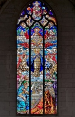 Eglise de la Dalbade - English:  Church Notre-Dame de la Dalbade in  Toulouse - Stained Glass of the Assumption