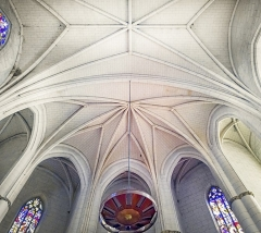 Eglise de la Dalbade - English:  Notre-Dame de la Dalbade  in Toulouse. View of the interior of the nave, the vaults of the choir.