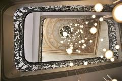 Hôtel Dassier - Français:   Rampe de l\'escalier d\'honneur de l\'hôtel Dassier, du XVIIIème siècle par le maître serrurier Joseph Bosc. Toulouse. Cette rampe a servi de modèle à celle de l\'escalier de l\'hôtel-musée Nissim de Camondo à Paris.