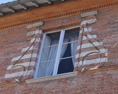 Ancien hôtel de Lestang - Français:   Fenêtre de Hôtel de Lestang, fin XVIème s. - début XVIIème s., Toulouse.