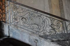 Hôtel de Puivert ou Puyvert - Français:   Détail de la rampe d\'escalier de l\'hôtel de Puivert, Toulouse. Auteur Bernard Ortet, XVIIIème siècle.