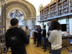 Ancien petit Séminaire de l'Esquile - Français:   Visite de la bibliothèque