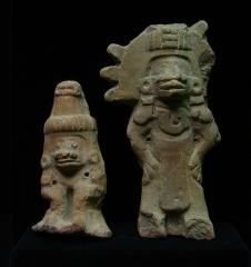 Ancien couvent des Jacobins -  Statuettes de culture aztèque, musée d'Auch.