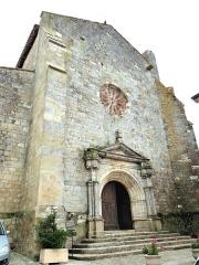 Eglise - Français:   Miradoux - Église Saint-Orens-et-Saint-Louis - Façade occidentale et le portail Renaissance