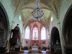 Eglise - Français:   Miradoux - Église Saint-Orens-et-Saint-Louis - Nef vers le choeur
