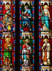 Eglise - Français:   Miradoux - Eglise Saint-Orens-et-Saint-Louis - Vitrail du chevet