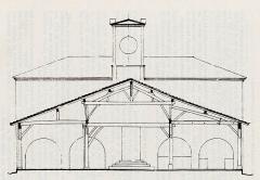 Halle et Hôtel de ville - Français:   Saint-Clar, Gers, Occitanie, France: halle-hôtel de ville, 1818. Plan XIXe siècle.