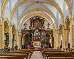 Eglise Notre-Dame-du-Puy - English: Interior of the Notre-Dame-du-Puy church of Figeac, Lot, France